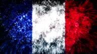 firework flag of france video