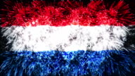 firework flag of Netherlands video