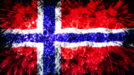 firework flag of norway video