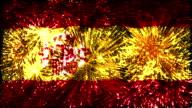firework flag of Spain video