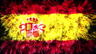firework flag of Spain video