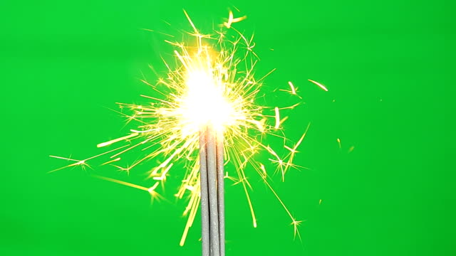 Firework Full HD Video With Green Screen Background video
