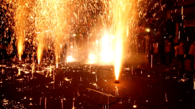 Firework on floor video