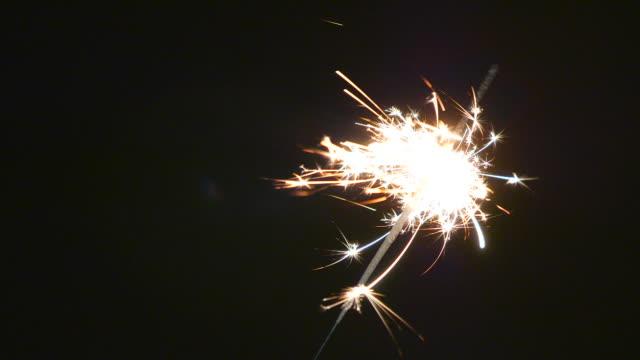 FULL HD - Firework sparkler burning video