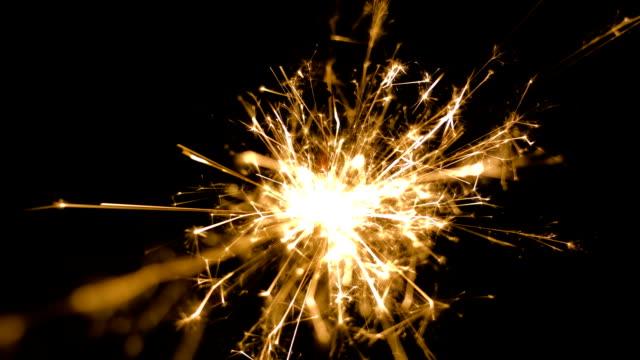 Firework sparkler video