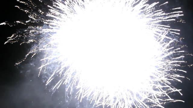 Firework streaks in the night sky video