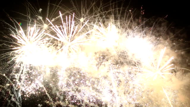 Fireworks at Valencia harbour, Spain video