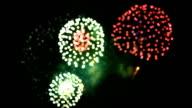Fireworks bokeh. video