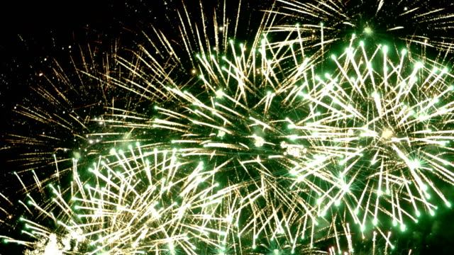 Fireworks display celebration, Colorful Firework 4K with sound audio video