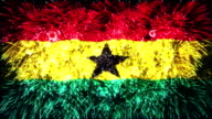 fireworks flag of Ghana video