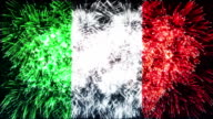 fireworks flag of italy video