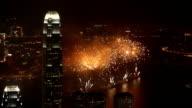 Fireworks in Hong Kong video