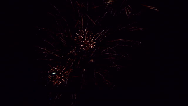 Fireworks in the night sky video