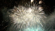 fireworks of new years Festival of Thailand in Bangkok and much smoke video