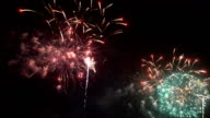 Fireworks of new years Festival of Thailand video