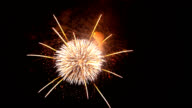 fireworks on the night sky video