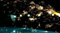fireworks sprinklers video
