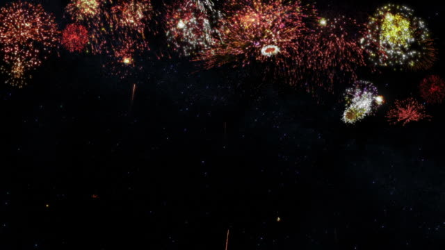 Fireworks with copy space. Holliday background. video