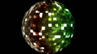 Firey Light Hi-Tech Squares Spinning Globe 03 video