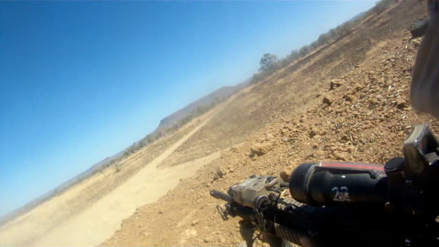 Firing Machine Gun video