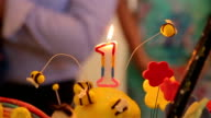 first birthday candles video