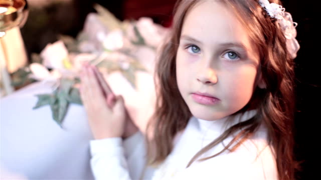 First Communion girl and God video