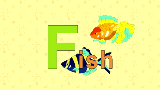Fish. English ZOO Alphabet - letter F video