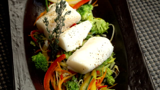 fish steamed with vegetables video