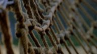 fisher net on boat close up video