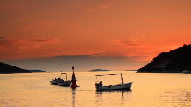 HD: Fisherman At Sunset video