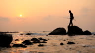fisherman at sunset video