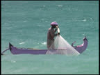 FIsherman (in Pink Canoe) Pulls Net video