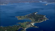 fishers island club golf course - Aerial View - New York,  Suffolk County,  United States video
