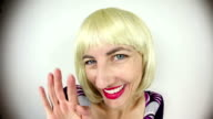 Fisheye Blonde Flirting video
