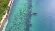 Fishing Boat Capsize in the Sea with Drone. video
