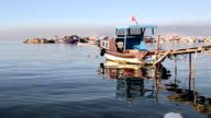 Fishing boat in Inciralti, Izmir video