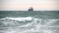fishing boat in the sea video