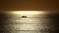 Fishing Boat in the Sunrise video