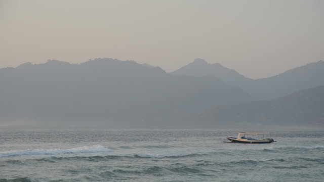 Fishing boat on Lombok shores video