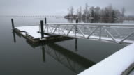 Fishing Dock Snow, Richmond 4K. UHD video