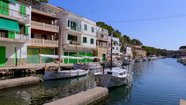 Fishing harbour Cala Figuera ( Santanyí ) of Balearic Islands Majorca / Spain video
