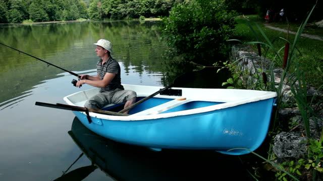HD CRANE: Fishing in nature video