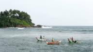 Fishing Industry in Weligama, Sri Lanka video