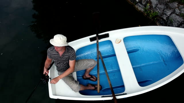 HD CRANE: Fishing on a boat video