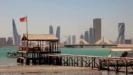Fishing Pier in Manama, Bahrain video