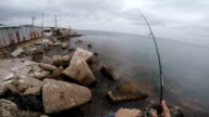 Fishing. POV video