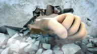 Fist Breaking Wall video