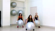 Fitness. Aerobics with the fitballs video