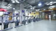 fitness equipment in modern gym video