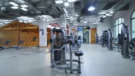 fitness equipment in modern gym video